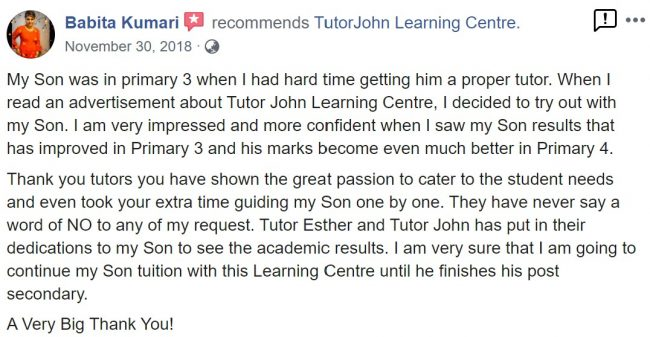 TutorJohn Learning Centre review 1